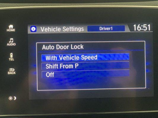 Auto Door Lock trên honda crv