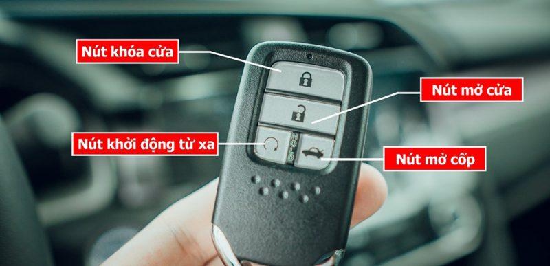 chìa khóa thông minh trên honda civic