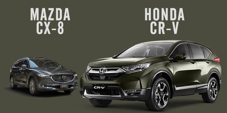 So sánh phần đầu giữa Honda CRV và Mazda CX8