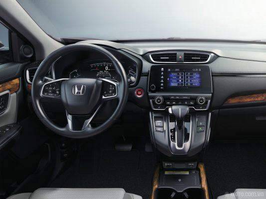 Vô lăng và màn hình trung tâm Honda CRV
