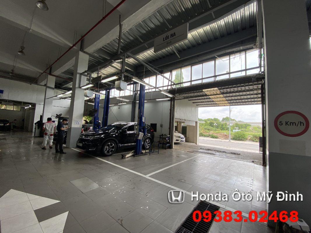 Khu vực bảo dưỡng xe tại Honda oto Mỹ Đình 3
