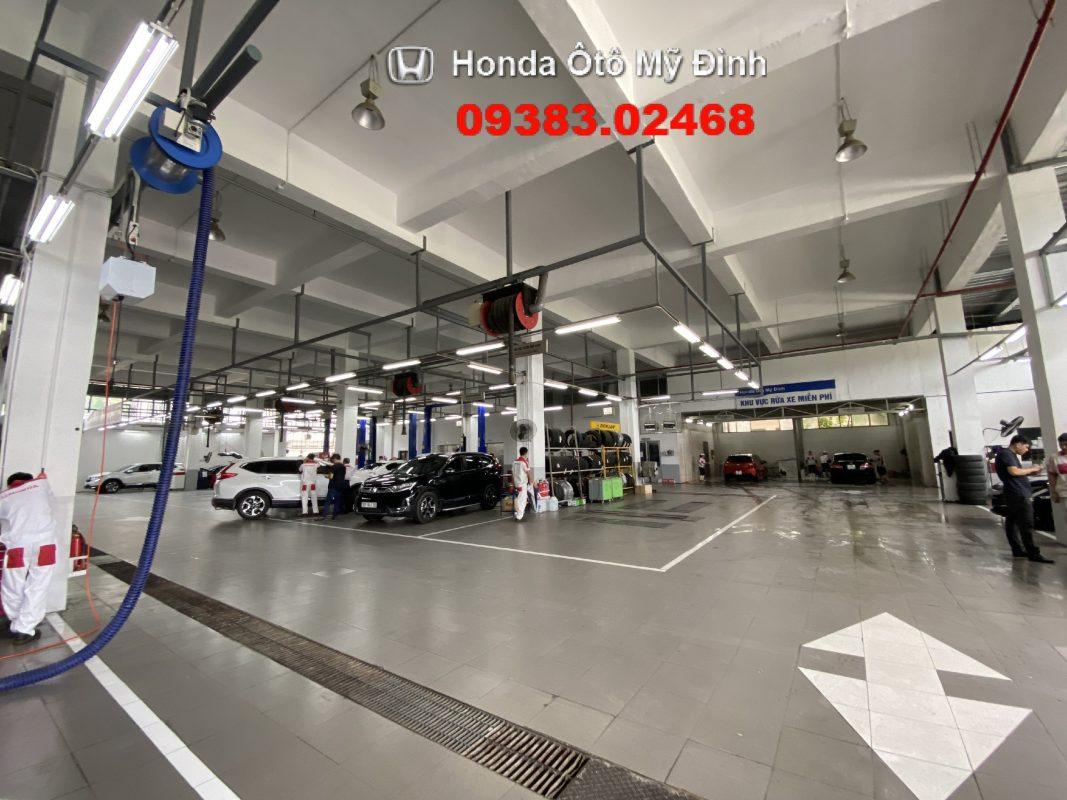 Khu vực bảo dưỡng xe tại Honda oto Mỹ Đình 2