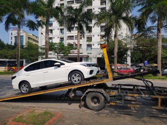 Honda City lên xe vận chuyển về tận nơi cho Khách hàng
